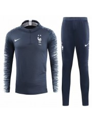 FRANCE NAVY TRACKSUITS KITS 2018 (2 STARS) - PLAYER VERSION