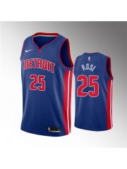 Detroit Pistons #25 Derrick Rose Blue Jersey