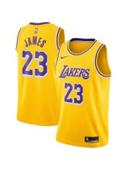 LOS ANGELES LAKERS #23 LEBRON JAMES YELLOW JERSEY