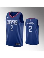 Los Angeles Clippers #2 Kawhi Leonard Jersey Blue