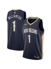 New Orleans Pelicans #1 Zion Williamson Navy Jersey