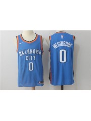 Oklahoma City Thunder #0 Russell Westbrook 2017 18 Blue Jersey