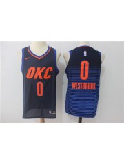 Oklahoma City Thunder #0 Russell Westbrook 2017 18 Blue/Orange Jersey