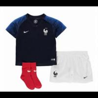 FRANCE WORLD CUP HOME JERSEYS 2018 KIDS (2 STARS)