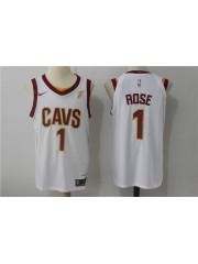 Cleveland Cavaliers #1 Derrick Rose 2017-18 White Jersey