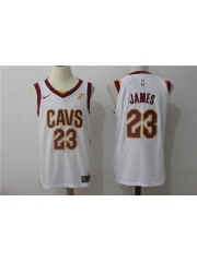 Cleveland Cavaliers #23 LeBron James 2017-18 White Jersey