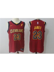 Cleveland Cavaliers #23 LeBron James 2017-18 Wine Red Jersey