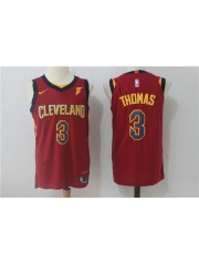 Cleveland Cavaliers #3 Isaiah Thomas 2017-18 Wine Red Jersey