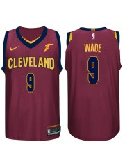 Cleveland Cavaliers #9 Dwyane Wade 2017-18 Wine Red Jersey