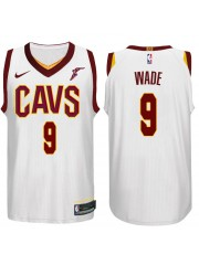 Cleveland Cavaliers #9 Dwyane Wade 2017-18 White Jersey