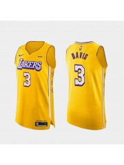 Los Angeles Lakers #3 Anthony Davis Gold Jersey